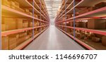 view of a warehouse goods stock ... | Shutterstock . vector #1146696707