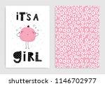 it s a girl. set of card... | Shutterstock .eps vector #1146702977