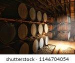 cask in warehouse | Shutterstock . vector #1146704054