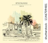 hyderabad  telangana state ...   Shutterstock .eps vector #1146709481