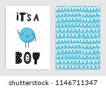 it s a boy. set of card... | Shutterstock .eps vector #1146711347
