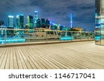 empty wooden footpath front of... | Shutterstock . vector #1146717041