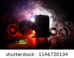 old style movie projector ... | Shutterstock . vector #1146720134