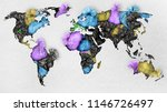 oncept of global pollution. a...   Shutterstock . vector #1146726497