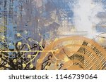 contemporary art. hand made art.... | Shutterstock . vector #1146739064