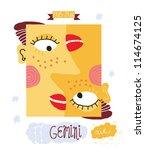 gemini zodiac sign | Shutterstock .eps vector #114674125