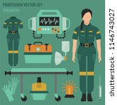 profession and occupation set....   Shutterstock .eps vector #1146743027