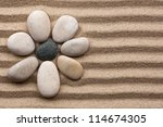 stone flower on a background of ... | Shutterstock . vector #114674305