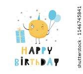 happy birthday. hand drawn... | Shutterstock .eps vector #1146745841