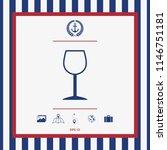 wineglass symbol icon | Shutterstock .eps vector #1146751181