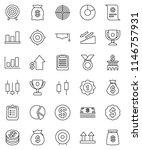thin line vector icon set  ... | Shutterstock .eps vector #1146757931