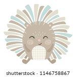 hedgehog baby cute print. sweet ... | Shutterstock .eps vector #1146758867