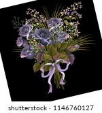 beautiful bouquet of  red roses ... | Shutterstock . vector #1146760127