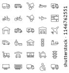 thin line vector icon set  ... | Shutterstock .eps vector #1146762551