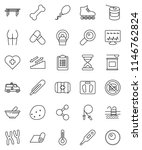 thin line vector icon set  ... | Shutterstock .eps vector #1146762824