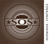 sos vintage wooden emblem | Shutterstock .eps vector #1146765611