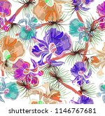 seamless pattern with abstract... | Shutterstock .eps vector #1146767681