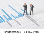 business report  graph and... | Shutterstock . vector #114676981