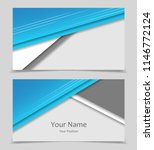 business cards set   Shutterstock .eps vector #1146772124
