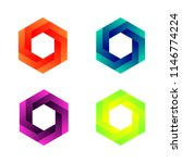 impossible cubes  dimensional... | Shutterstock .eps vector #1146774224