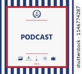 podcast   icon for web and... | Shutterstock .eps vector #1146774287