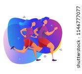 runners vector illustration.... | Shutterstock .eps vector #1146777077