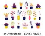 set of bright modern flat... | Shutterstock .eps vector #1146778214