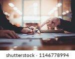 business team working planning... | Shutterstock . vector #1146778994