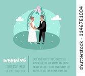 wedding people cartoons bride... | Shutterstock .eps vector #1146781004