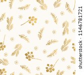 golden christmas pattern with... | Shutterstock .eps vector #1146781721