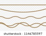 vector realistic rope isolated... | Shutterstock .eps vector #1146785597