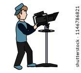 color professional cameraman... | Shutterstock .eps vector #1146786821
