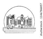 grunge cameraman camcorder film ... | Shutterstock .eps vector #1146786857