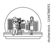 line professional cameraman... | Shutterstock .eps vector #1146788051