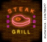 steak house neon colorful sign... | Shutterstock . vector #1146788297