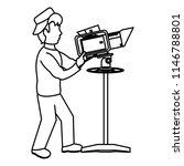 line professional cameraman... | Shutterstock .eps vector #1146788801