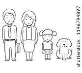 vector set of family | Shutterstock .eps vector #1146794897