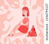 bullying vector cartoon concept ... | Shutterstock .eps vector #1146795137