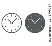 time line and glyph icon  clock ... | Shutterstock .eps vector #1146799757