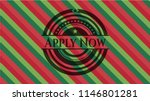 apply now christmas style badge.... | Shutterstock .eps vector #1146801281