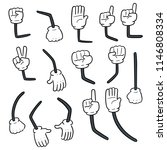 vector set of cartoon arm | Shutterstock .eps vector #1146808334
