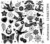old tattooing school black and...   Shutterstock .eps vector #1146817394
