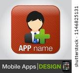 vector social network button....