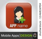 add female user   vector... | Shutterstock .eps vector #1146826904