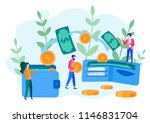 concept money transfer from and ... | Shutterstock .eps vector #1146831704