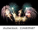 beautiful color fireworks...   Shutterstock . vector #1146839687