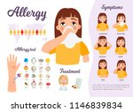 infographics of allergies....   Shutterstock .eps vector #1146839834