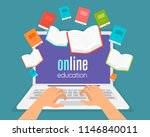 online education  online... | Shutterstock .eps vector #1146840011