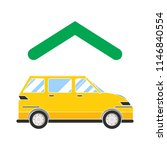 car garage  workshop  car  home ... | Shutterstock .eps vector #1146840554