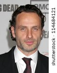������, ������: Andrew Lincoln arrives at
